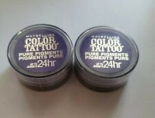 2x Maybelline Color Tattoo Pure Pigments 24Hr Eyeshadow #15 Potent Purple