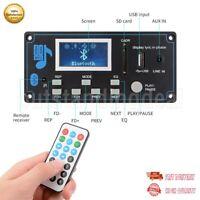 12V LCD Bluetooth MP3 Decoder Board WAV WMA Decoding MP3 Player Audio Module