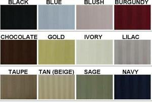 "Bed Skirts 1000 TC Egyptian Cotton 15"" Drop Length All Sizes / Striped Color"