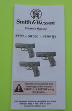 SMITH & WESSON SW99, SW990 & SW99 QA PISTOL INSTRUCTION MANUAL, 31 PAGES OF INFO