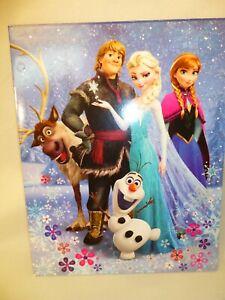 "Disney Frozen 2 POCKET PORTFOLIO 9x12"" FOLDER 3 RING BINDER PUNCH NEW Elsa Anna"