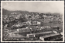 AX3905 Genova - Panorama e porto - Cartolina postale - Postcard