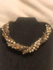 18� Multi-Gem Stone Wood Necklace Silpada 5-Strand Chunky Sterling Silver