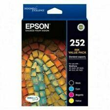 Epson 252 Ink Cartridges for WorkForce 3620 Printer - Black/Cyan/Magenta/Yellow