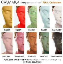 CASMARA 10 peel off masks-FULL COLLECTION-VARIETY 10 peel off masks of All types