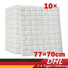 HOT! 3D 10XTapete Wandpaneele Selbstklebend Ziegel Wasserfest Wandaufkleber Weiß