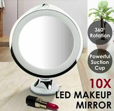 10x Magnifying Makeup Vanity Cosmetic Round Bathroom Mirror with LED Light AU