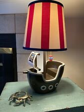 CIRCO Pirate Adventure Ship Table Lamp & Striped Shade - Target Exclusive - Used