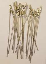 "Lot of 25 Silver Tone Metal Jewelry Craft Beading Head Pins 4"" Inch Findings VTG"