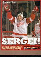 SERGEI FEDOROV The Free Press DETROIT RED WINGS 8x10 Collect Card!