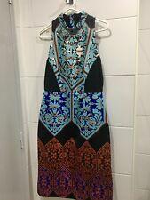 ASOS High Neck Dress womens Size 12-14.mult colour scuba material