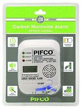 PIFCO Carbon Monoxide Co 85db Alarm Detector Certified - Digital Display