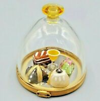 Rochard Domed Dessert Tray with Pastries and Champagne Limoges Box