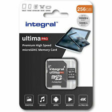 Integral UltimaPRO 256GB Micro SD Card SDXC Memory 4K V30 UHS-I U3 A1 C10 100MBs