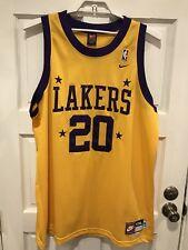 Nike L.A. Lakers NBA Throwback Jersey GARY PAYTON  20 Swingman Sewn Sz 57 +  2 c7a9295b5