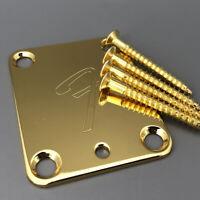 Micro Tilt Guitar Neck Plate F for TL ST guitar well Gold