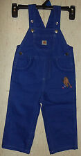 Nwot Baby Girls carhartt Blue Violet Overalls Size 24M