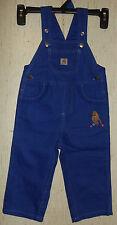 NWOT BABY GIRLS carhartt BLUE VIOLET OVERALLS  SIZE 24M