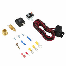 Engine Cooling Fan Temperature Switch Sensor 4 Pins Relay Kit 175~185 Degree JL