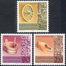Liechtenstein 1998 artesanía tradicional/Madera/obstruir/zapato/rueda 3 V Set (n44232)