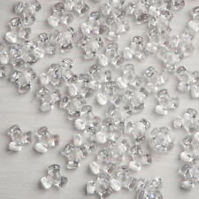 2 bags of 100 - 11MMTri Beads-Crystal Clear - great color for all your projects