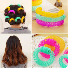8pcs Hair Curler Spiral Curling Rollers DIY Tools Women Mixed Colors Donut Shape