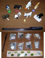 Raro Set 8 Mini Figuras Little Dogs Perros Species Part 2 Colección Bandai Nuevo