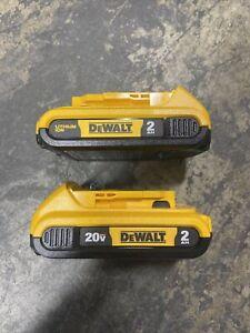 New Dewalt (2) Pack of DCB203 20V 2.0Ah Li-Ion Batteries Lithium-Ion Dcb203-2
