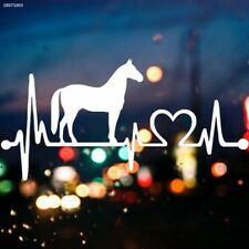 White Horse Cartoon Electrocardiogram Car Plastic Decal Sticker Decoration B583