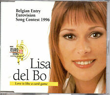 MAXI CD EUROVISION 1996 Belgique Lisa DEL BO Love is like a card game 4 versions