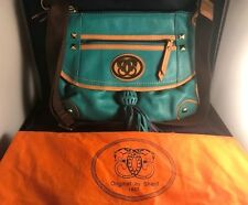 Sharif Turquoise All Leather Sport Bag