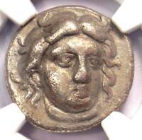 Caria Rhodes Greek AR Didrachm Coin Rose Helios 340-305 BC - NGC Choice Fine