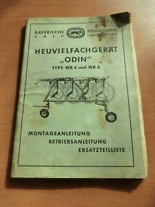 Betriebsanleitung Montage Ersatzteilliste Heuvielfachgerät ODIN WR4 6 Landsberg