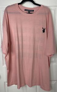 NWOT Playboy x Missguided Women's Repeat Slogan T-Shirt Dress Pink Size US 12