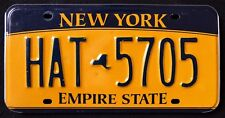 "NEW YORK "" EMPIRE STATE - GOLD - MAP "" HAT 5705 ""  NY Graphic License Plate"