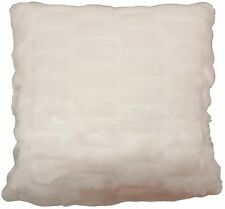 PACK OF 4 ARCTIC FUR CUSHION COVERS SOFT CREAM IVORY FAUX FUR FLUFFY SHERPA REV.