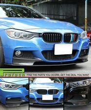 12-15 BMW F30 F31 4Dr M-Sport P Style Carbon Fiber Front Bumper Lip 3PCS