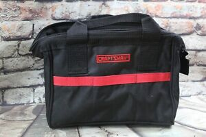 Craftsman 10 in. W Wide Mouth Tool Bag Black/Red