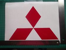 Mitsubishi....logo vinyl decal sticker .Large...x2..on REFLECTIVE vinyl