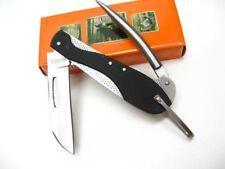 Marbles Black Marlin Spike Stainless Folding Stainless Pocket Knife MR384