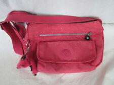 Kipling Neon Pink Nylon Crossbody or Shoulder Bag with Monkey Charm