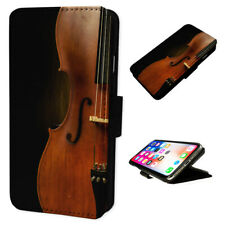 Violin Music - Flip Phone Case Wallet Cover Fits Iphone & Samsung XR S10