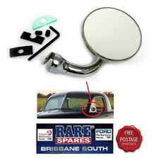 """UNIVERSAL LH OR RH DOOR FRAME MOUNTED MIRROR, RIGHT ANGLE ARM 3"""" HEAD HOT ROD"""