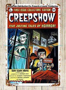 modern art prints CREEPSHOW Movie Poster horror scary metal tin sign