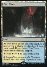 Magic Mtg FOIL Shadows over Innistrad Port Town   near mint