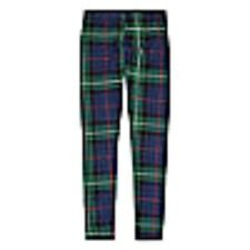 GIRLS GREEN & NAVY BLUE PLAID LEGGINGS SKINNY YOGA PANTS SIZE 14 LARGE NWT