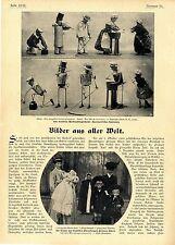 Automatisches Spielzeug Puppen mit Mechanismus Historische Spielwaren v.1906