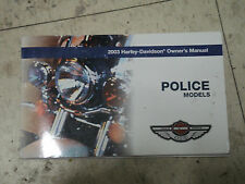 2003 Harley Davidson Police Owners Manual