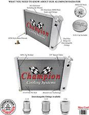 "68 - 74 Chevy Nova 3 Row Double Pass LS Conv DR Radiator w 1.50/1.50"" Fittings"