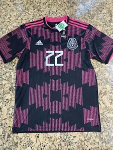 BRAND NEW 2021/22 Adidas Mexico Home Jersey H. Lozano #22